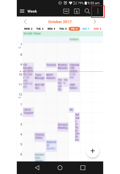 Setting Up MyCalendar On Android Devices